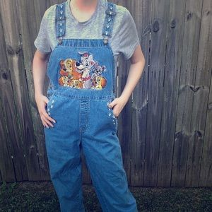 Vintage Disney Catalog Lady and the Tramp Overalls